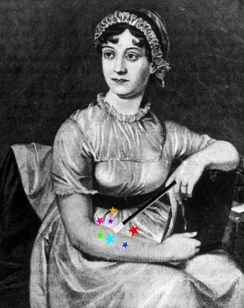 Jane Austen with wand